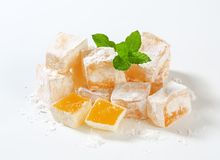 Mastic-flavored jelly cubes (Greek Turkish delight) Royalty Free Stock Image