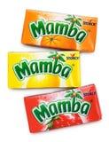 Mastications colorées de fruit de Mamba photographie stock