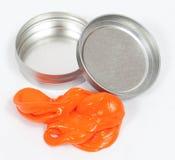 Mastice arancione Fotografia Stock Libera da Diritti