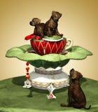 Mastiff Puppies. A decorative illustration with three Mastiff puppies Stock Photos