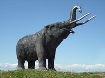 Mastodon Statue. Mastodon or elephant Statue, at the Canadian half-way from North Pole to Equator in Stewiacke, Nova Scotia Stock Image