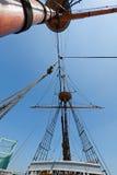 mastrigging seglar högväxt sikt för ship Royaltyfri Foto