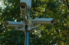 Mastro com câmeras Foto de Stock Royalty Free