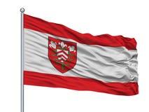 Mastro de bandeira de Halle Westfalen City Flag On, Alemanha, isolada no fundo branco Ilustração Stock
