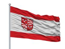 Mastro de bandeira de Werther Westfalen City Flag On, Alemanha, isolada no fundo branco Ilustração do Vetor