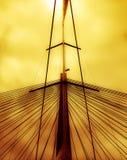Mastro e a ponte Fotos de Stock Royalty Free