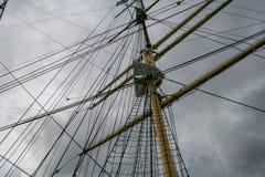 Mastro no navio velho imagens de stock royalty free