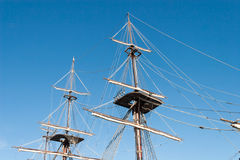 Mastro velho do navio Fotografia de Stock Royalty Free