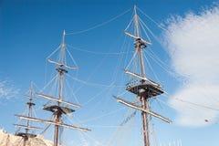 Mastro velho do navio Fotografia de Stock