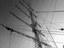 Mastros do navio foto de stock