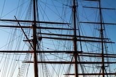 Mastros em um fullrigger. Foto de Stock Royalty Free