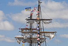 Free Masts And Spars Of A Windjammer Royalty Free Stock Photos - 17080808