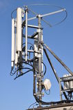 Masts and antennas cellular systems Stock Photos