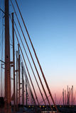 Masts At Dusk Royalty Free Stock Images