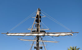 Masts galleon ship. Masts of an old Galleon ship royalty free stock image