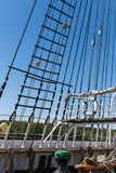 The masts of MS Pommern Stock Images