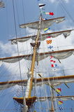 Masts and nautical flags Royalty Free Stock Image