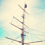 Masts. Of an old ship royalty free stock image