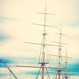 Masts. Of an old ship stock photos