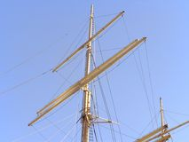 Masts of old ships. Detailed masts of old ships Royalty Free Stock Image
