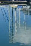 masts reflexion royaltyfria bilder