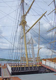 Masts, rigging and yardarms Stock Photography