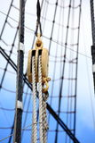 Masts and rope of sailing ship. Stock Image