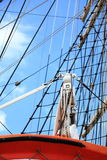 Masts and rope of sailing ship. Stock Photos