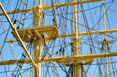 Masts and ropes Royalty Free Stock Photography