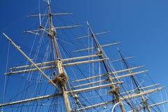 masts s-sailship Arkivbild