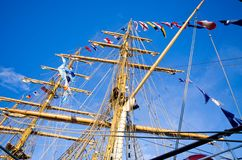 Masts of sail ship Royalty Free Stock Photography