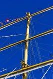 Masts of sailing boat Royalty Free Stock Images