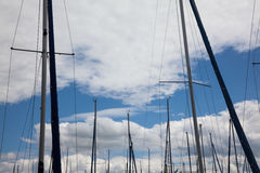 Masts of Sailing Boats Stock Photography