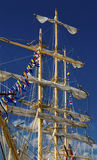 Masts of sailing ship Royalty Free Stock Photos