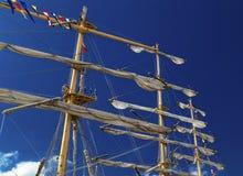 Masts of sailing ship Royalty Free Stock Image
