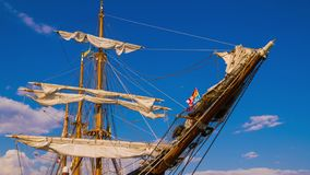 The masts of sailing ship stock footage
