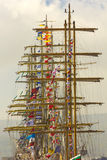 Masts of sailing ships Stock Photo