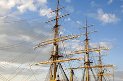 Masts of the sailing vessel Stock Image