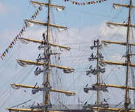 Masts with sails Stock Image