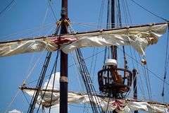 Masts and sails stock images