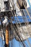 Masts seglar och rigging Royaltyfri Foto