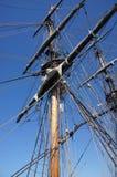 Masts seglar och rigging Royaltyfria Bilder