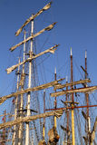 Masts on several tall ships Stock Photo