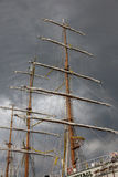 Masts and sky Royalty Free Stock Photography