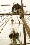 masts som rigging s-shipen royaltyfri bild
