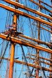 masts som rigging shipen, munhuggas högväxt Arkivbilder
