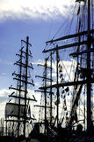 Masts of tall ships Stock Image