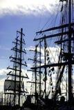 Masts of tall ships Stock Image