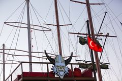 Masts. Of the Turkish sailboat stock photos