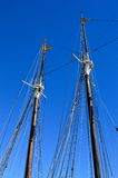 Masts of two ships Stock Image